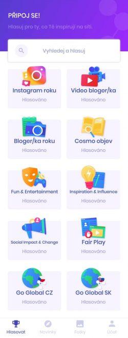 Czech Social Awards kategorie mobilni aplikace